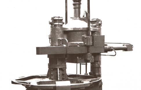 212 ton Three-Mould Concrete Press, O/No. 7558, c.1936