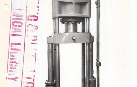 125 ton Vertical Shell Drawing Press, c.1915
