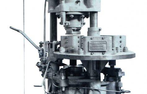 80 ton Three-Mould Brick Press, O/No. 7445, c.1935