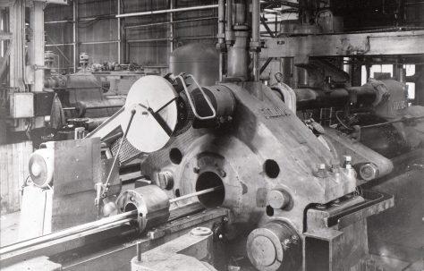 2000 ton Horizontal Extrusion Press, views taken on site, O/No. 7726, c.1936