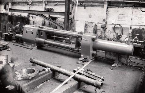"250 ton Horizontal Shell Drawing Press, for 6"" shells, O/No. 8341, c.1938"
