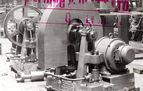 Three-Throw M D Pump with gear guard, O/No. 8488, c.1939