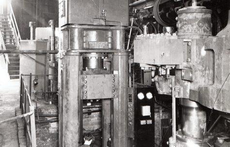 450 ton Cupping & Drawing Press, views taken on site c.1940, O/No. 8470, c.1939
