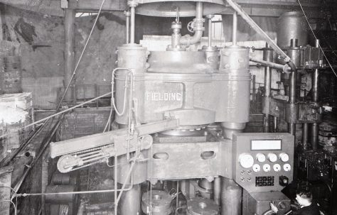 3000 ton Heading & Indenting Press, views take on site c.1940, O/No. 8472, c.1939