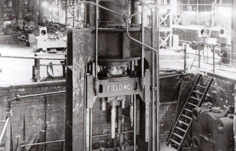 450 ton Vertical Piercing Press, view at erection, O/No. 8649, c.1939