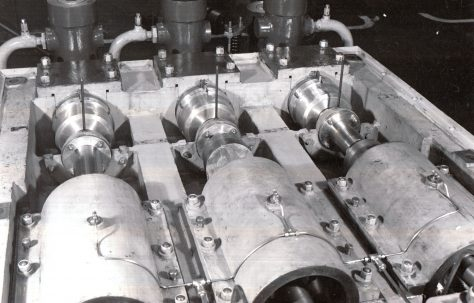 View of inside of L10 Pump and Mechanical Lubricator, c.1941