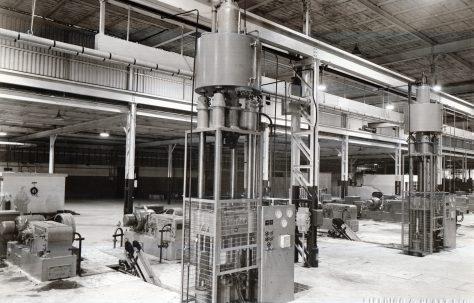 100 ton Drawing Press, view taken in Fisher & Ludlow factory, O/No. 9713, c.1941