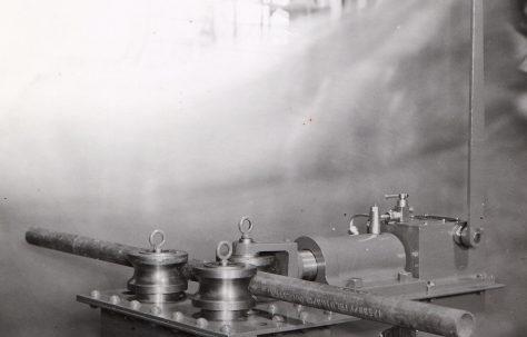 "10 ton Pipe Bender for 1"" dia. to 3"" dia. pipe, O/No. 4850, c.1944"