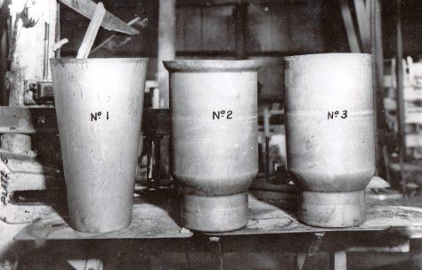 Mild steel milk cans, c.1949