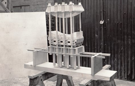 Model of a 4500 ton Heavy Flanging  & Dishing Press, c.1955
