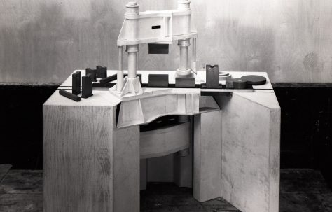 Model of a 1500 ton Pull - Down Forging Press, c.1958