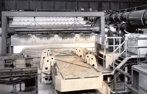 100 ton Furnace Pusher, view taken on site, O/No. 6220, c.1955