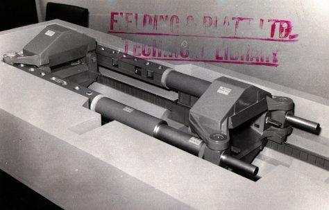 Model of a 3900 ton Aluminium Plate Stretching Machine, c.1962