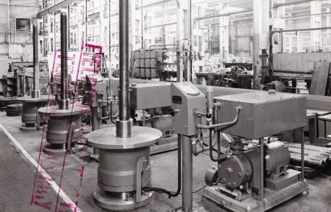 100 ton Core Building Press, O/No. 62100, c.1962