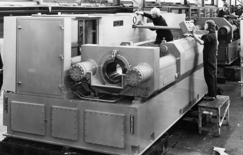 120 ton Double-Ended Deep Drawing & Ironing Machine, O/No. V87350, c.1974