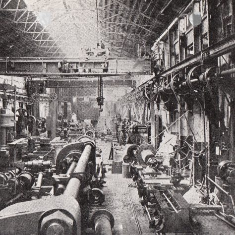 View of the Hydraulic Erecting Shop on 15/05/1905    D7338/14/5/17/7011 (Ex 1743) | Gloucestershire Archives
