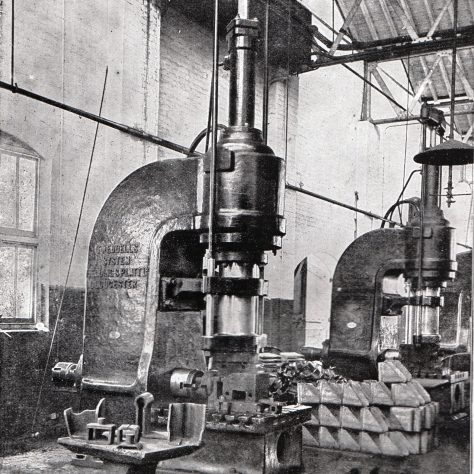 Two - Forging Presses at G.W.R. Swindon Works c.1905    D7338/14/5/17/7020 | Gloucestershire Archives