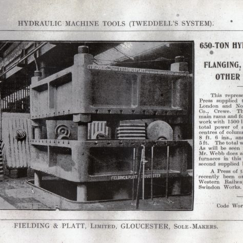 650 ton Flanging, Forging & General Purpose Press at L.N.W.R. Crewe Works, c.1890s    D7338/14/5/17/7022 | Gloucestershire Archives