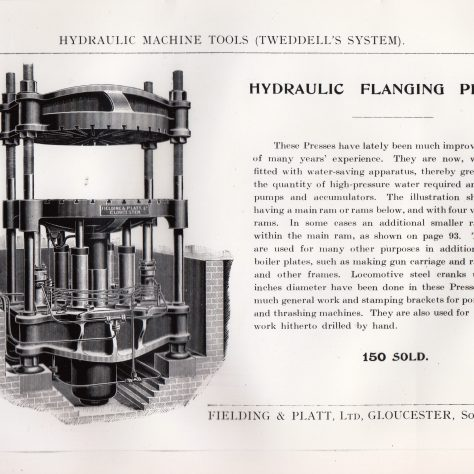 Hydraulic Flanging Press  D7338/14/5/17/7023 | Gloucestershire Archives