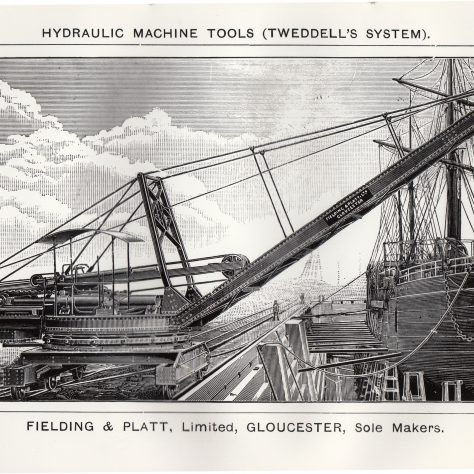 A Hydraulic Dockside Crane, c.1892    D7338/14/5/17/7027 | Gloucestershire Archives