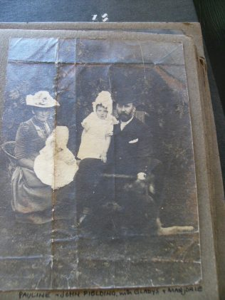Marjorie with her parents and sister Gladys   (Marjorie with her father).  You can click on the image to see a larger version of it | Audrey Meredith