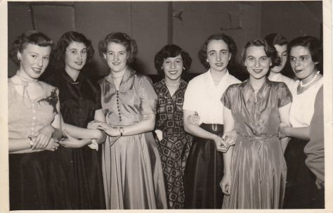 Ladies at the employees' Christmas Dance, December 1953