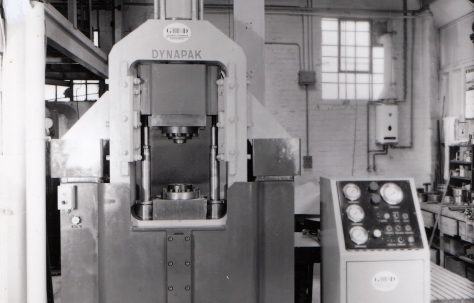 Photographs of 'Dynapak' Forming Machines