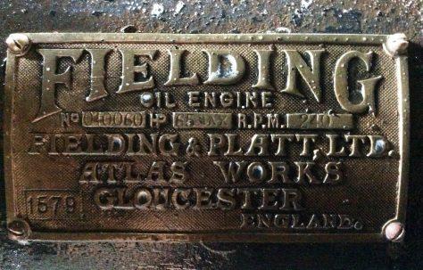 Fielding Horizontal Diesel Engine, Serial No. 040060