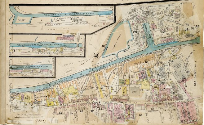 GBR/L10/1/8 City of Gloucester Goad Insurance Map, 1952 revision | Gloucestershire Archives