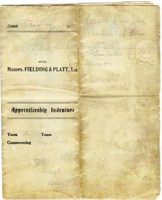 Albert William Ravenhill Apprentice Indenturesagreements