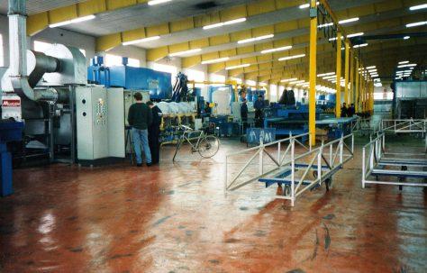 Photographs of site views taken inside the factory, O/No. 301-65570, c.1993
