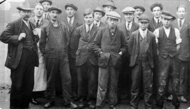 R J Lane (left), sons, and other Fielding workers, c. 1920 | Robert Lane