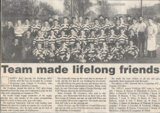 Ftelding & Platt RFC, c.1950/51 | Article from The Citizen