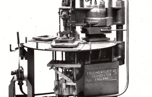 80 ton Three-Mould Tile Press, O/No. 7253, c.1935