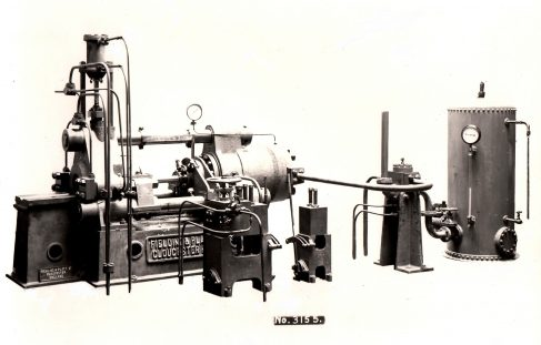 400 ton Horizontal Hydraulic Extrusion Press, O/No. 7400, c.1935