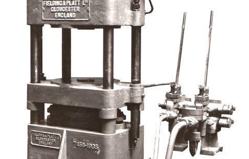 80 ton 4 column Upstroking Press, O/No. 7458, c.1935