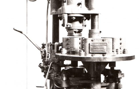 80 ton Three-Mould Brick Press, O/No. 7445, c.1935