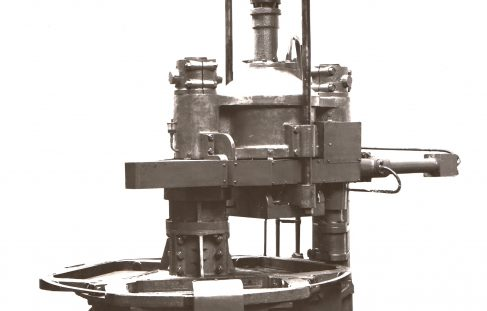 212 ton Three-Mould Concrete Press, O/No. 7558, c.1936