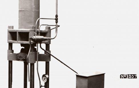 75 ton Vertical Drawing/Bushing Press with Fraser Pump, O/No. 7623, c.1936