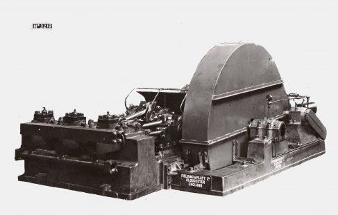 Three-Throw Horizontal MD Pump with latest lubrication, O/No. 7794, c.1936