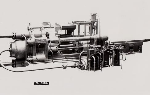 750 ton Horizontal Extrusion Press, O/No. 7181, c.1934