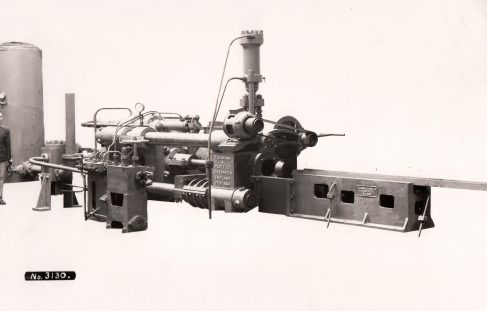 600 ton Horizontal Extrusion Press, O/No. 7176, c.1934