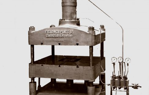 130 ton 4 column Press, O/No. 7484, c.1936
