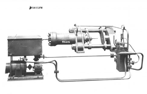 90 ton Horizontal Extrusion Press, O/No. 8182, c.1938