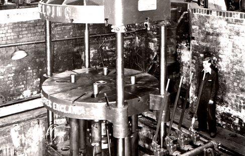 150 ton Four Column Flanging Press, O/No. 9157, c.1940