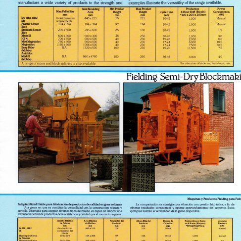 Fielding Construction Division Equipment