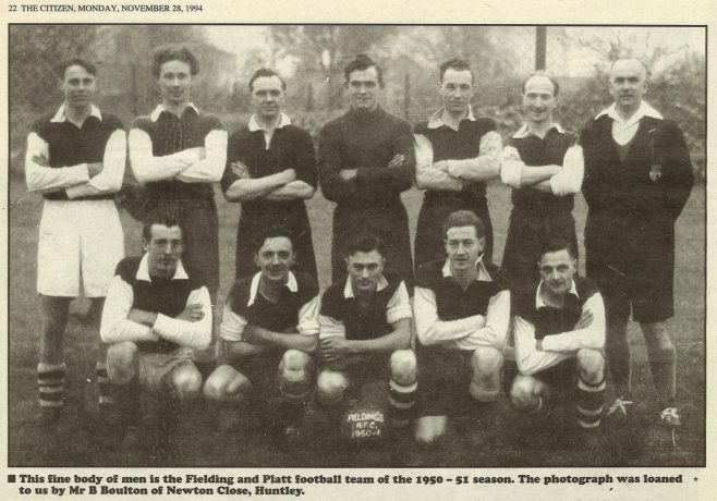 F&P Football Team 1950-51 season | Kind acknowledgement to the Citizen