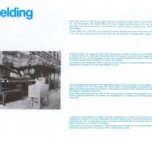 Fielding Extrusion Presses_15