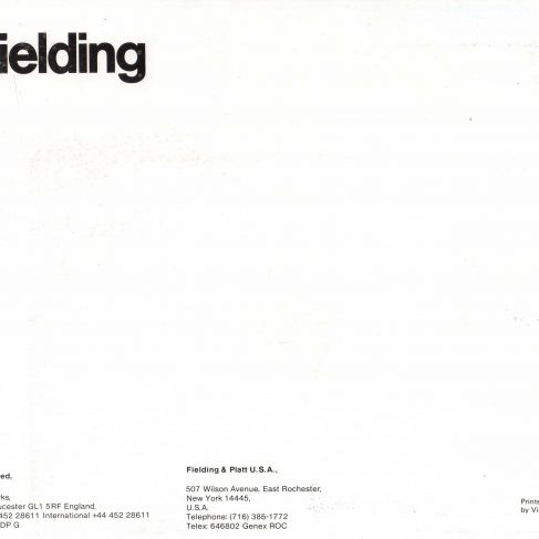 Fielding Extrusion Presses_Back cover