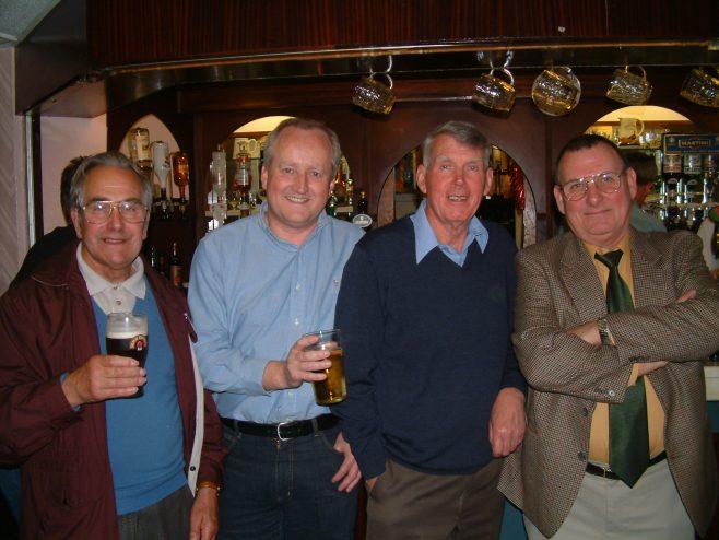 Photo 34.    John Ansley; Andrew Wilkinson;  Mel Phelps;  Norman Bidmead.